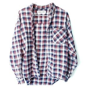 Bugle Boy Red and Blue Plaid Button Down Size M